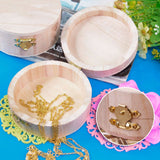 Wooden Crafts Jewelry Storage Box Wood Mud Base Case Art Decor Kids DIY Toys#H0VH# Drop shipping
