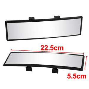 X Autohaux 22.5 x 5.5cm Black Paltic Shell Curve Clip On Auto Car Interior Rear View Mirror