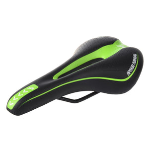 YAFEE Bicycle saddle Bicycle Seat Gel Mount Bike Saddle Bicycle Racing Bicycle Saddle Black and Green