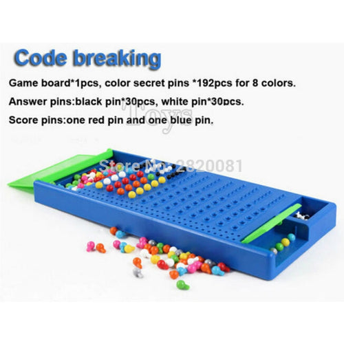 family funny puzzle game code breaking challenge yourself toy,parent-kid 2player educational intelligence game mastermind toys