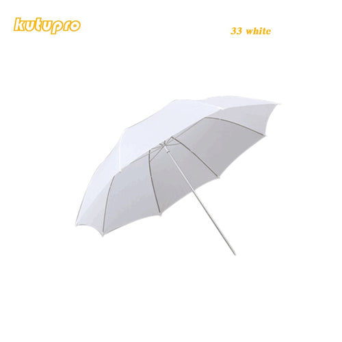 kutuproLightweight 33in 83cm Pro Studio Photography Flash Translucent Soft Lambency Umbrella White Nylon Material Aluminum Shaft