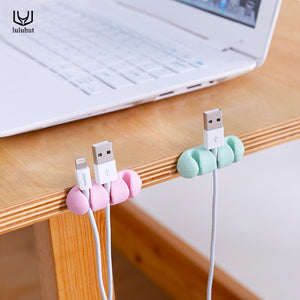 luluhut 3pcs/set colorful cable wire organizer cord management tidy USB charger holder phone data line wrapped