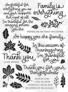 thanks and leaves/Transparent Clear Stamps for DIY Scrapbooking/Card Making/Kids Christmas Fun Decoration Supplies