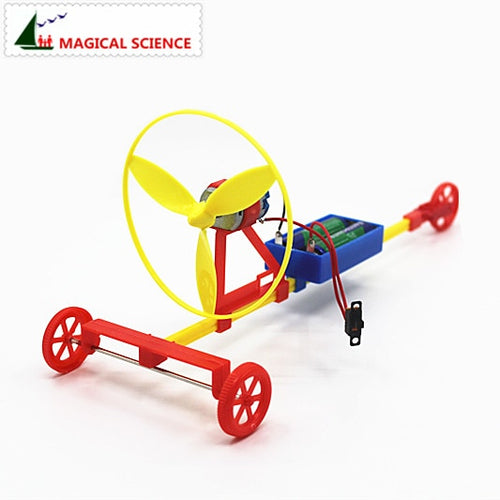 Fun physics experiment Air driving power racing car DIY materials,home school educational kit,best gift for kids