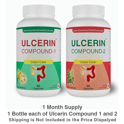 Ulcerin Compound 1 and 2 - 1 Month Supply (1 Bottle Each)