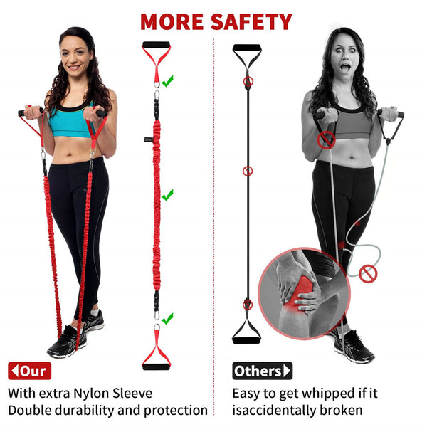 Resistance Bands Set, Portable Home Workouts Accessories, Exercise Bands