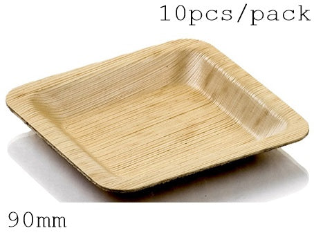 Disposable Eco-Friendly Bamboo  Tableware (10 mm, 10 PC/Pack)