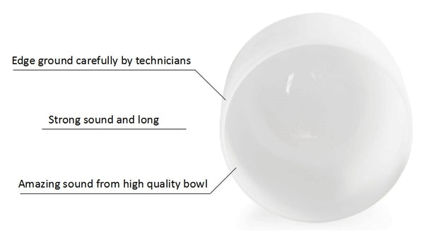 "7""-14"" set of 12pcs  440 Hz chakra crystal singing bowl set, chakra tuned CDEFGABC#D#F#G#A#"