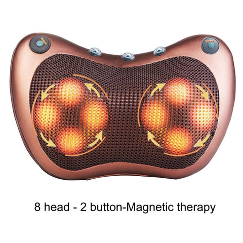 Relaxation Massage Pillow Car And Home  Electric Massager Shoulder Neck Infrared Heating Massage Relaxation Body Massage