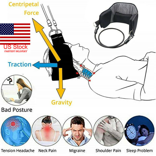 Portable Head Hammock Cervical Traction Device for Neck Pain Relief
