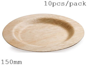 Disposable Eco-Friendly Bamboo  Tableware (150 mm,10 Pc/Pack)