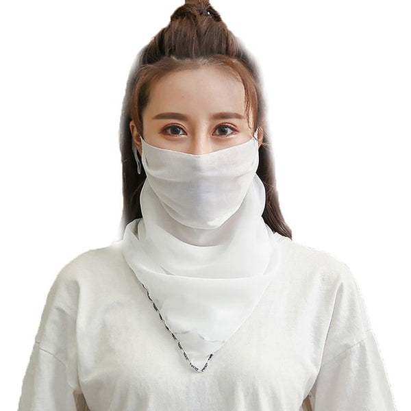 Windproof Outdoor Fashion Half Face Mask Double Sided Dust-proof Breathable Sunshade Neck Covers Protector Masks  Scarf Shawl