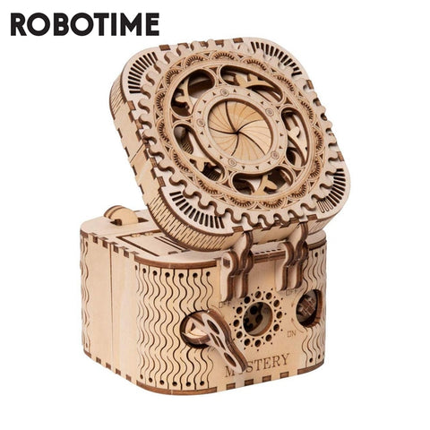 DIY 3D Treasure Box Wooden Puzzle, 123 PCS