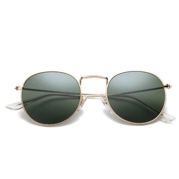 Oval Sunglasses  Small Metal Frame