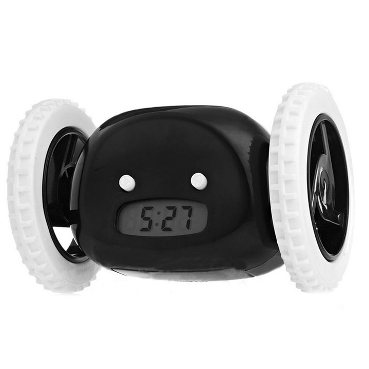Clock Alarm With Moving Wheels