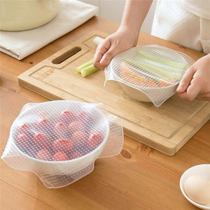 4 Pcs Set Silicone Food Cover - 60% OFF