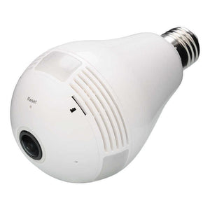 Bulb Light Fish Eye Wireless IP Camera