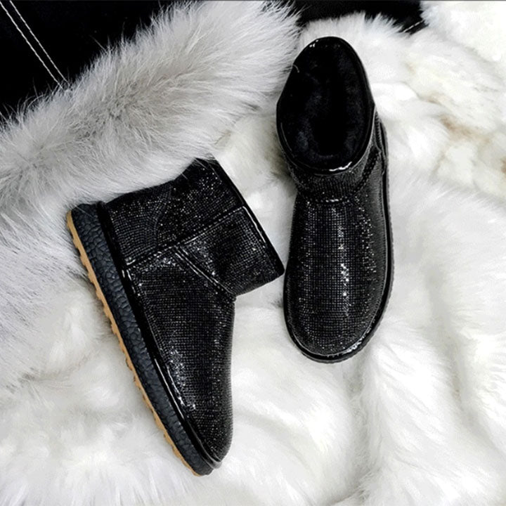 Cashmere Full Diamond Waterproof Shoes Boots