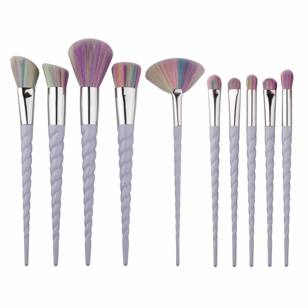 Unicorn Makeup Brushes - 5/10 Set