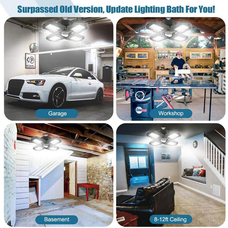 Four-Leaf LED Garage Lights