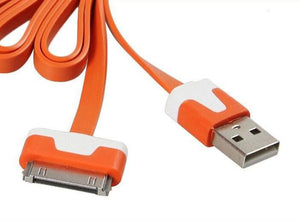 Flat USB Data Sync Charger Cable for Iphone 4