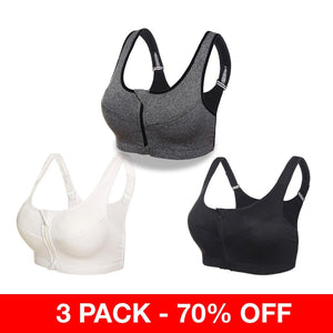 InstaSupport Front Zip Compression Lifting Bra