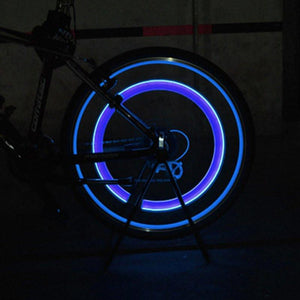 Premium LED Lights for Wheel Valve Caps Cars/Bikes - 4 LIGHTS SET -60% OFF