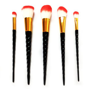 Black Unicorn Makeup Brushes - 5/10 Set