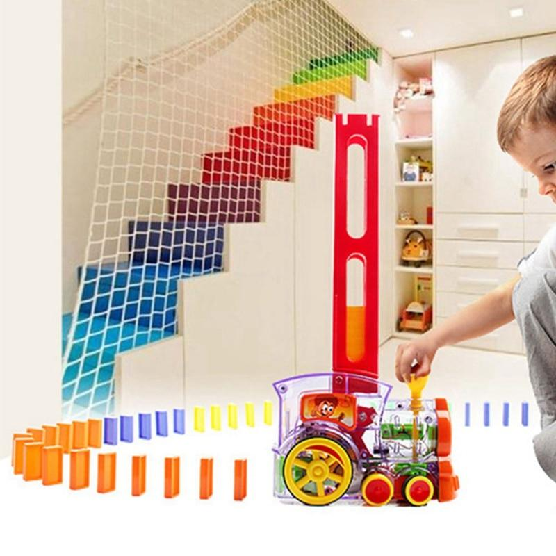 Automatic Domino Brick Laying Toy Train -70%OFF