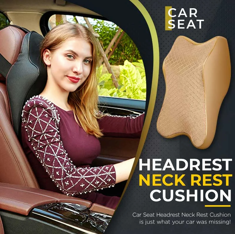 Premium Car Seat Headrest Neck Rest Cushion