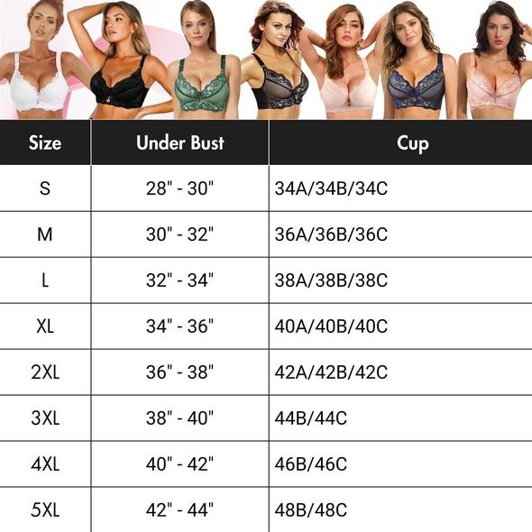 Full-Figure Seamless Lace Support Bra