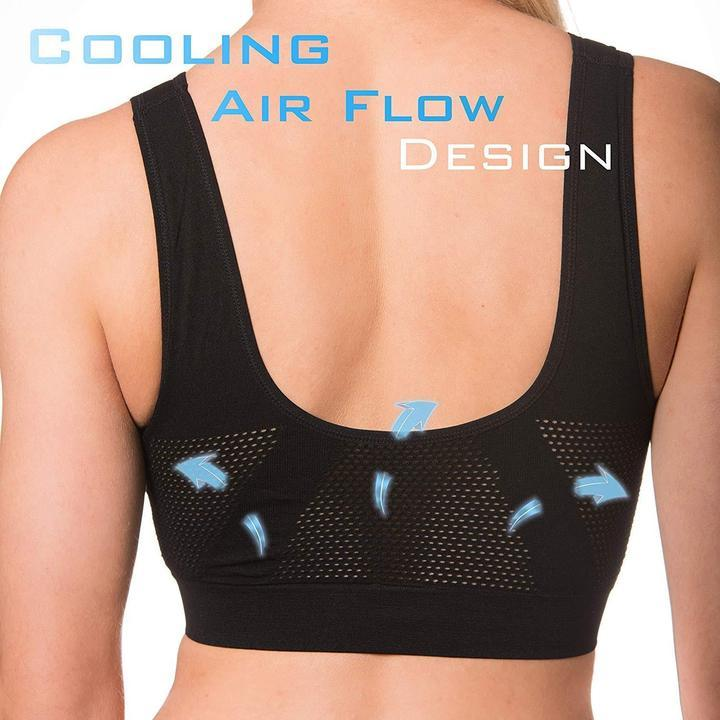 InstaCooling Comfortable Air Bra - Plus Size Bra