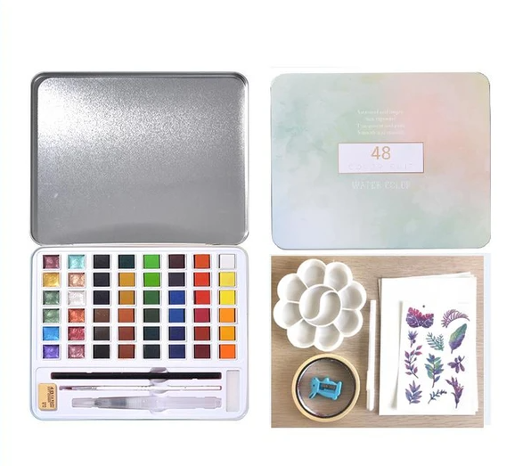 Glitter/Metallic Watercolor set -12/36/48 Color