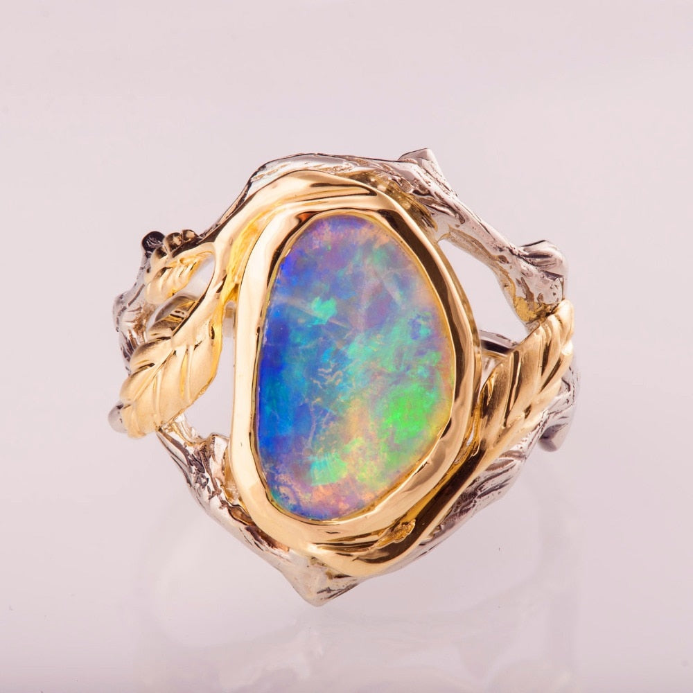 The Hidden Forest Opal Ring