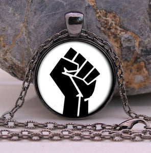 Black Panther Party Fist Necklace - 70% OFF!