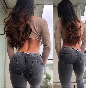 Mid Waist Fashion Lifter Jeans