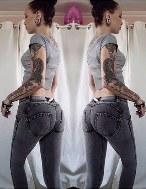 Mid Waist Fashion Lifter Jeans - 70%OFF!