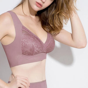NEW Seamless Elastic Lace Bra