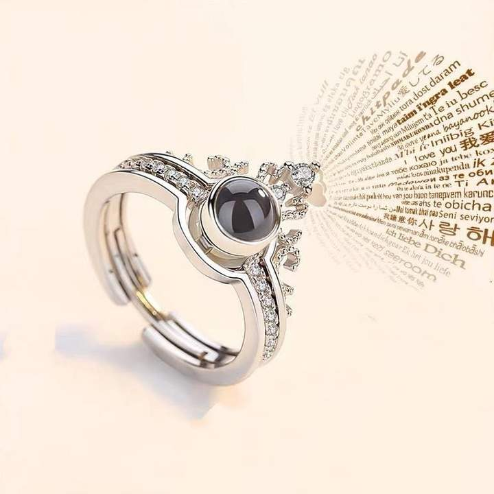 "100 Languages ""I LOVE YOU"" Ring, Necklace(Ring is adjustable)"