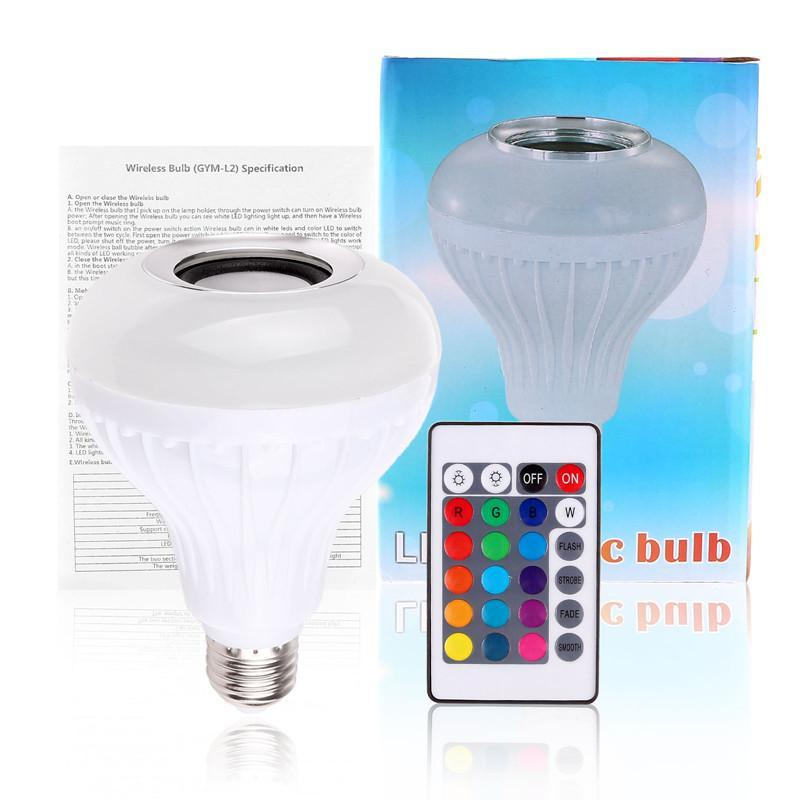 Bluetooth RGB Speaker LED Light Bulb