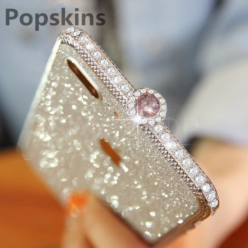 CRYSTAL IPHONE CASE WITH GRADE A ALUMINUM FRAME