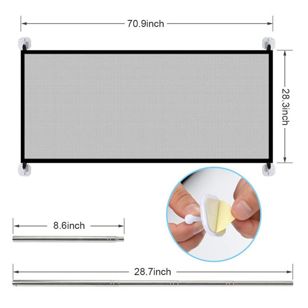 Portable Kids &Pets Safety Door Guard Magic Folding Mesh Safety Fence