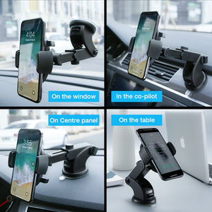 AUTOMATICALLY LOCKING WINDSHIELD PHONE MOUNT, UNIVERSAL FIT -60%OFF