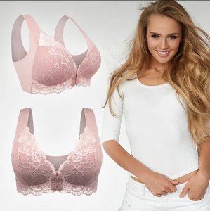 Front Closure Elastic Breathable Bra