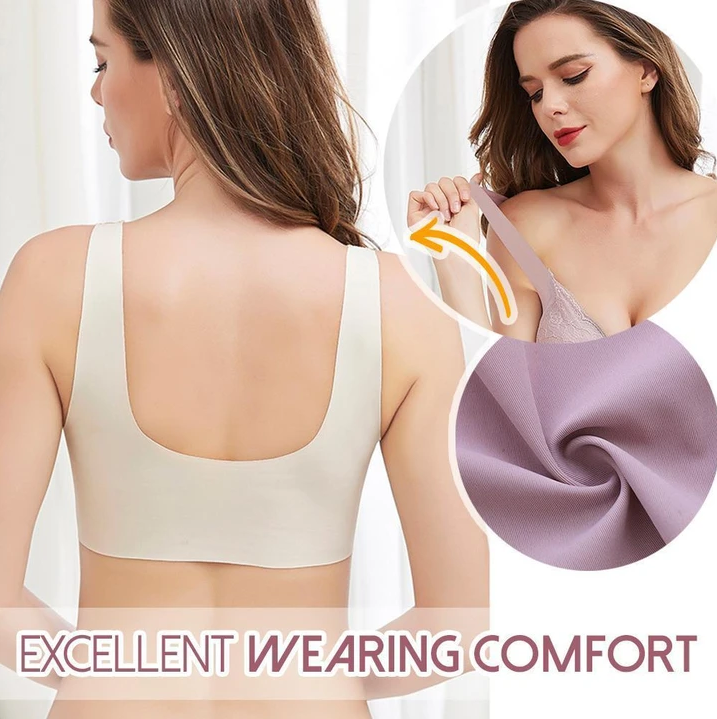 Front-Buckle Wireless Lifting Bra