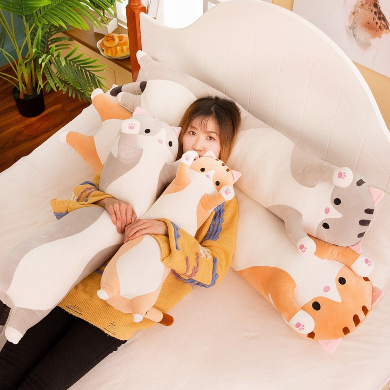 Cute Long Cat Plush Pillow