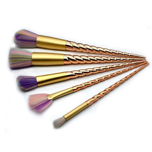 Gold of Unicorn Makeup Brushes 10 Set