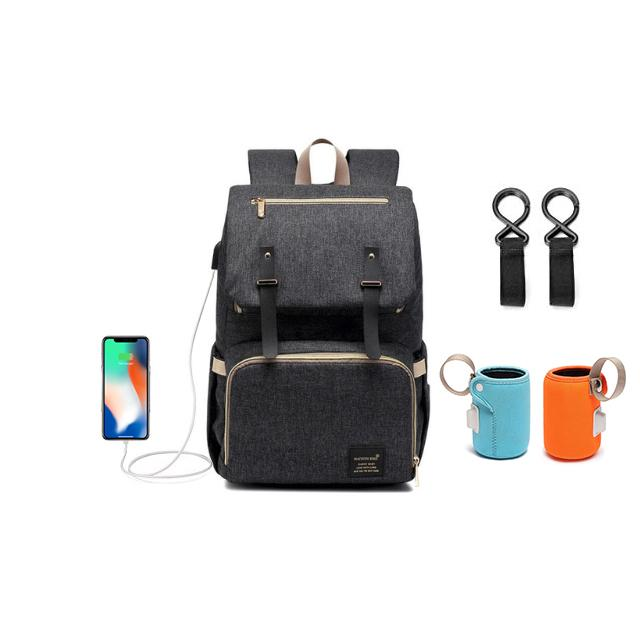 Premium USB Charger Laptop-Diaper Bag