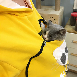 Sweater Pet Pouch Animal Tops