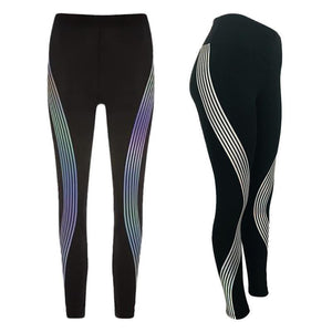 Reflective Striped Leggings